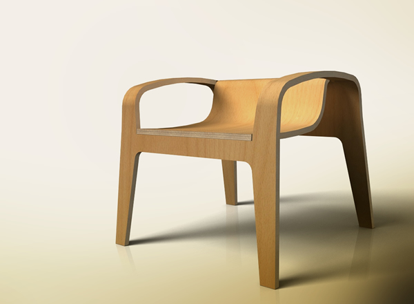 Невысокий кухонный стул с подлокотниками