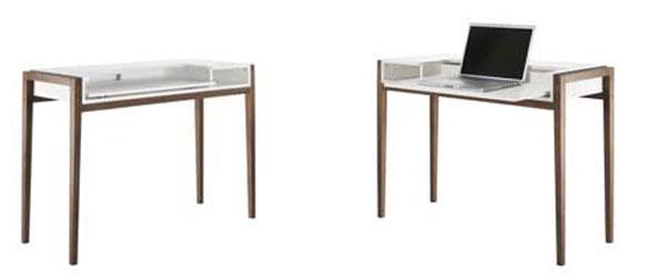 Стол для ноутбука с белой столешницей