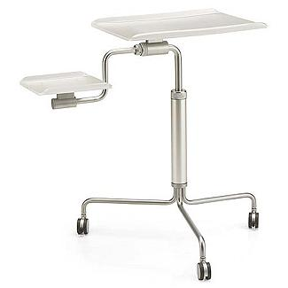 Легкий металлический компьютерный стол для ноутбука. Одельно полка для переферии или документов.
