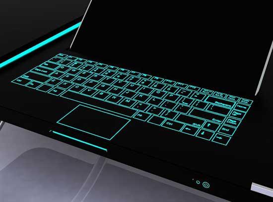 В компьютерный стол вмонтирована LED клавиатура ДВД привод и всё необходимое.