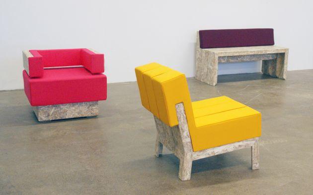 Мебель сделанная вручную из строительной пены. Шведский дизайн.