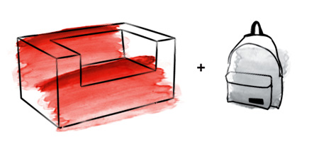 Мебель для подростка. Яркий практичный диван красного цвета.
