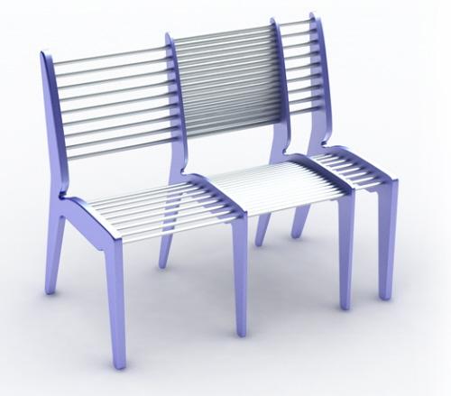 Идеи для маленькой комнаты. Раздвижной стул, увеличивает посадочную площадь в три раза.