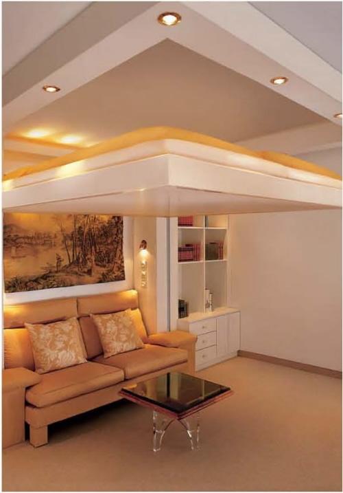 Мебель трансформер. Кровать с пультом управления. Незаметно уезжает под потолок.