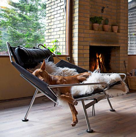 Домашнее кресло на металлическом каркасе из нержавеющей стали