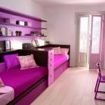 Детская мебель в фиолетовых тонах