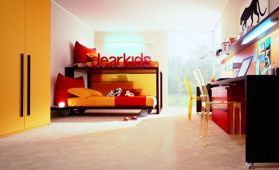 Детская комната. Контрастные цвета