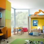 Яркая детская комната. Мебель и дизайн интерьера
