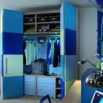 Шкаф для детской комнаты сине-голубой