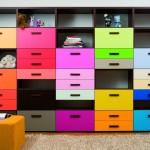 Молодежная мебель. Шкаф с разноцветными дверцами