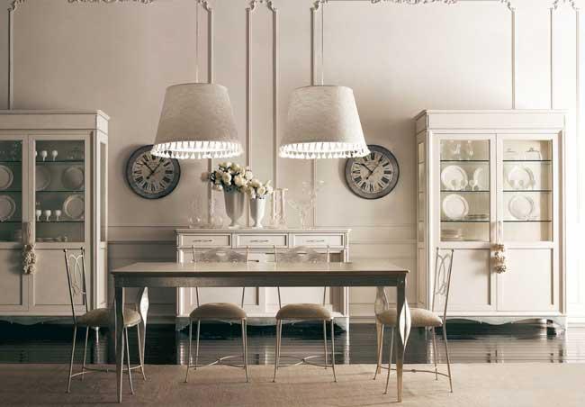 Классическая итальянская мебель пастельных тонов