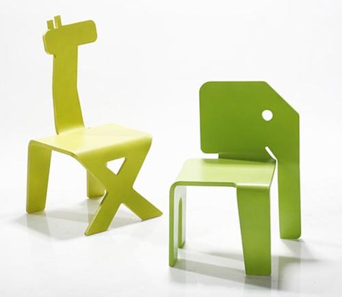 Коллекция стульев для детей в  виде животных