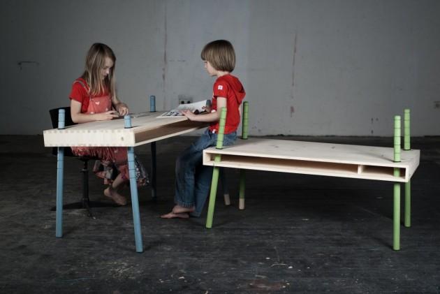 Детская игровая мебель. Стол регулируемый по высоте
