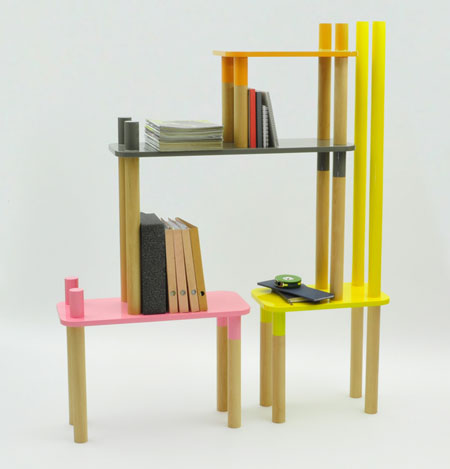 Веселая разноцветная мебель для детской