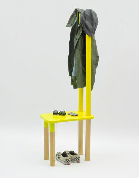 Полка стул для детской из дерева