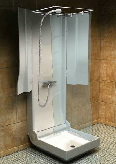 Душ для очень маленькой ванной комнаты