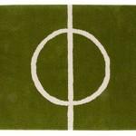 Графичный ковер в виде футбольного пола