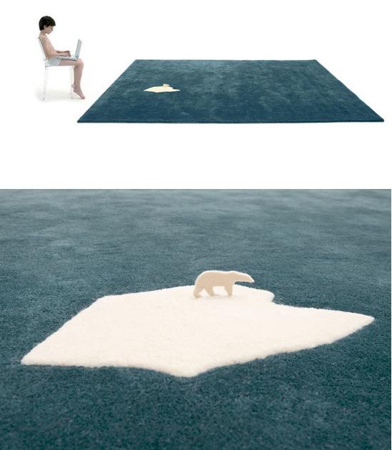 Детский ковер Белый медведь на льдине