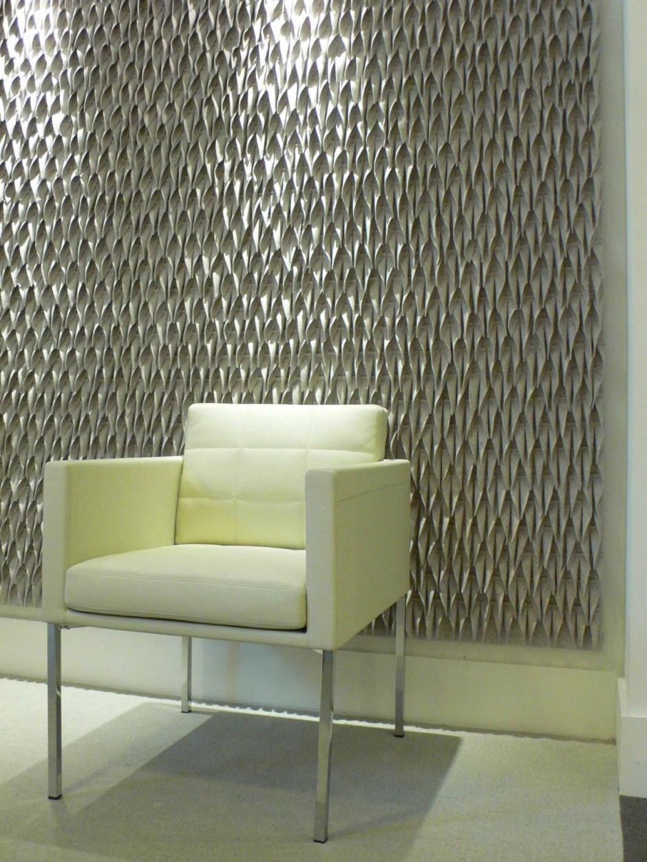 Оформление стен войлочными панелями