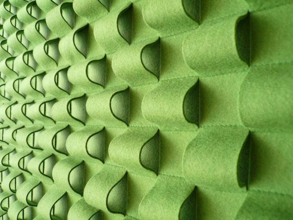 Панели из натурального войлока для оформления стен в офисе