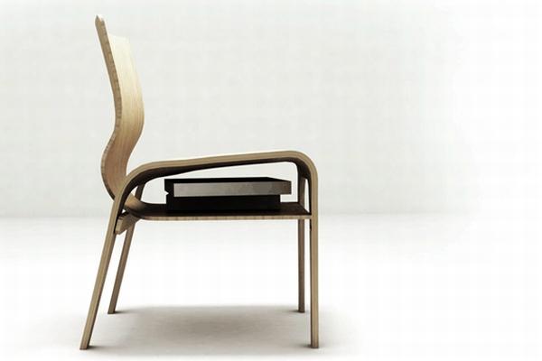 Удобный стул из гнутой фанеры с дополнительными функциями