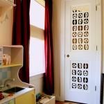 Дверь с прорезями сделанными лазером