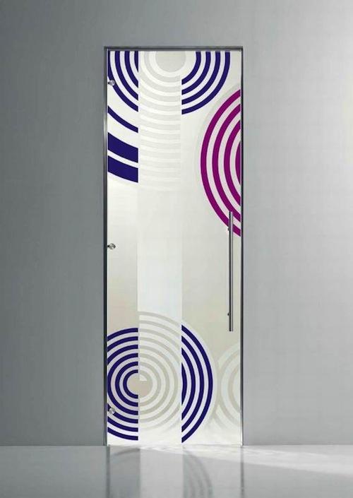 Дверь с рисунком концентрические круги