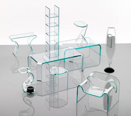 Наборы мебели из стекла. Италия