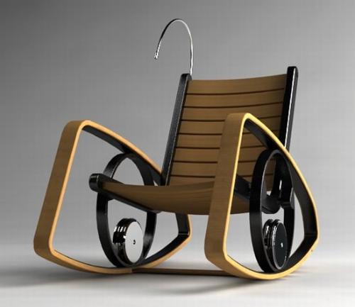Современное кресло-качалка. Дизайнерская мебель