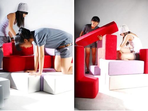 Мебель трансформер из отдельных модулей
