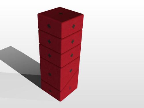 Мебель из отдельных блоков -- прямоугольных подушек