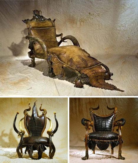 Авторское кожаное кресло