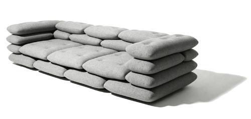 Софа из мягких подушек