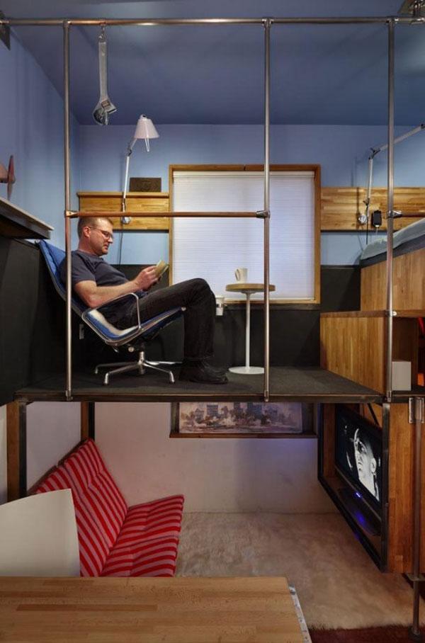 Пример экономии места в маленькой комнате