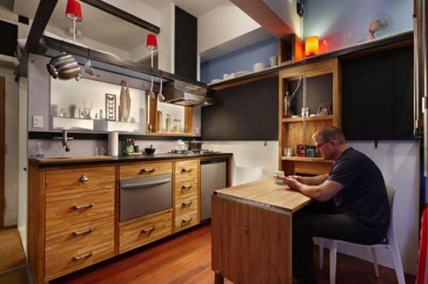 Дизайн маленькой кухни. Пример. Фото.