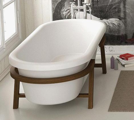 Итальянские ванны на деревянных ножках
