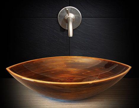 Деревянная раковина в виде чаши