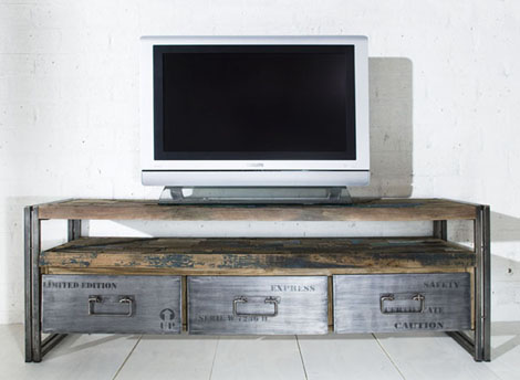 Тумба под ТВ в стиле Трэш