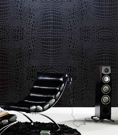 Текстурированные настенные панели черного цвета
