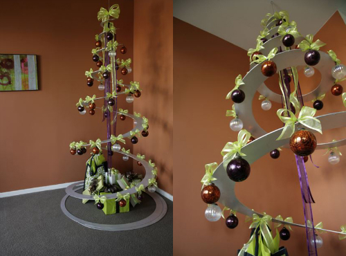 Декоративная круглая елка