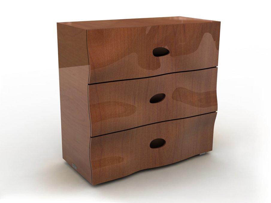 Комод с изогнутыми ящиками. Дизайнерская мебель