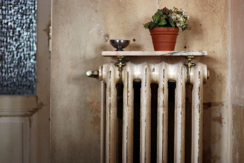 Пример старого радиатора отопления батареи до переделки
