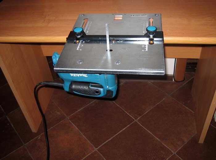 Электролобзик и миниверстак в собранном виде