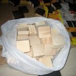 Покраска и покрытие кубиков лаком