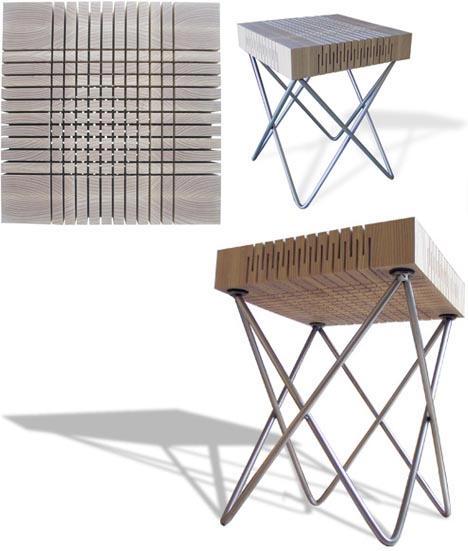 Дизайнерская мебель -- место для сидения с пропилами