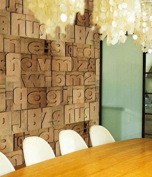 Обои на стены с изображением букв