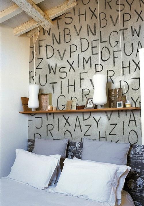 Обои на стены с буквами