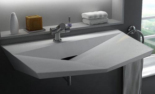 Раковина для ванной из отдельных плоских поверхностей
