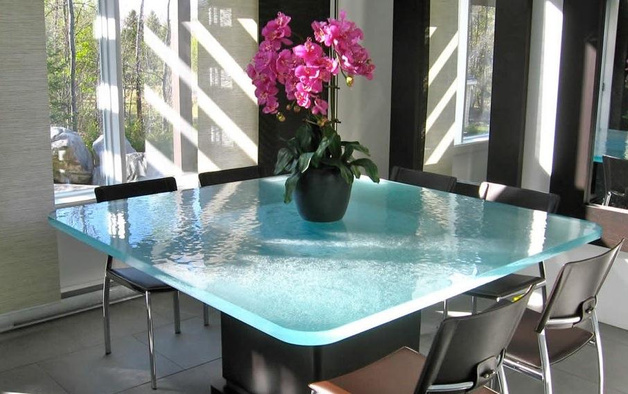 Стеклянная столешница для обеденного стола