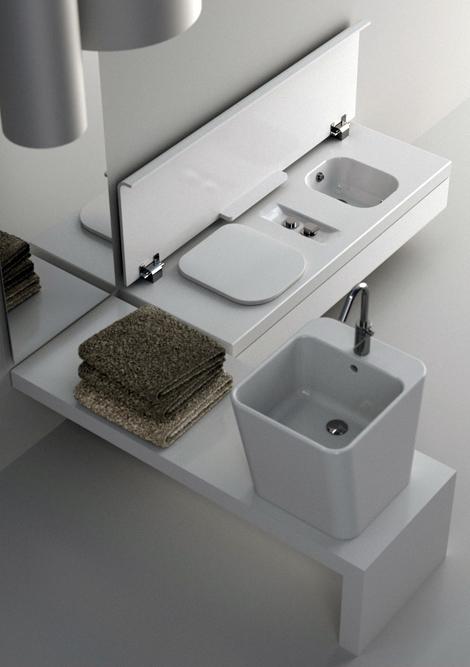Итальянская сантехника для компактной ванной комнаты